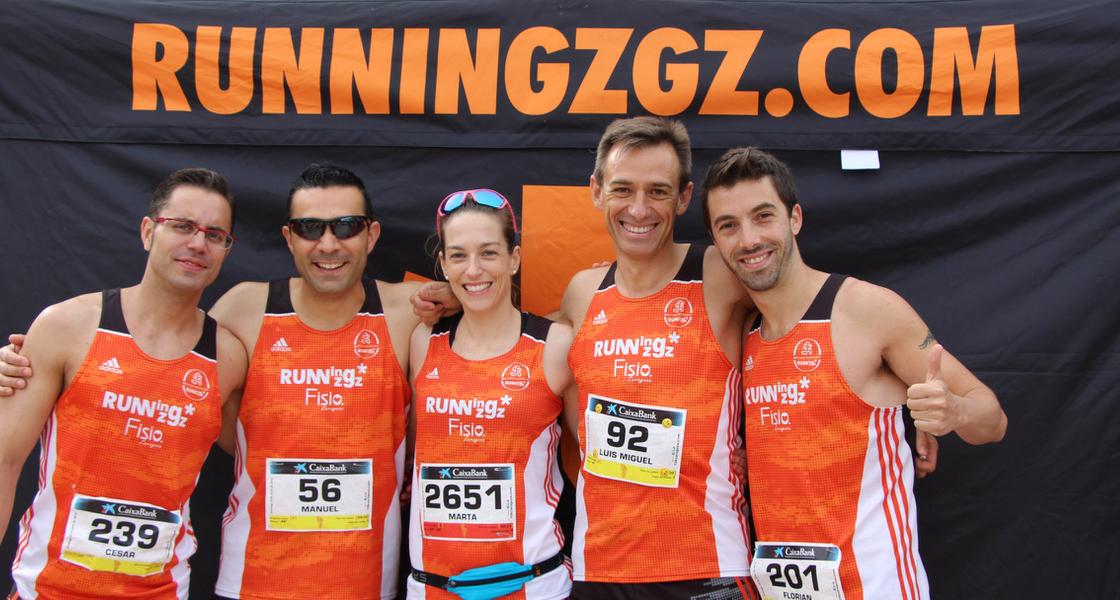 Podium con Club RunningZgz-FISIOZaragoza