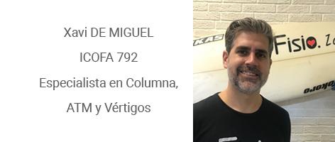 Xavi De Miguel, Fisioterapeuta